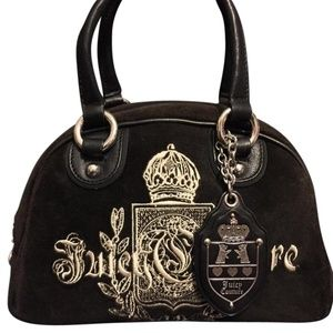 Juicy Couture  Genuine Leather Bowler with Charms
